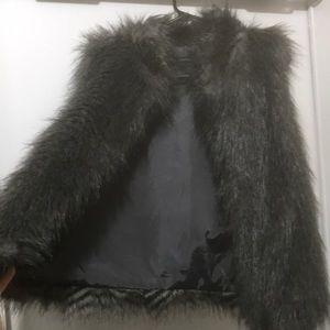 Vintage Calvin Klein Faux Fur Vest